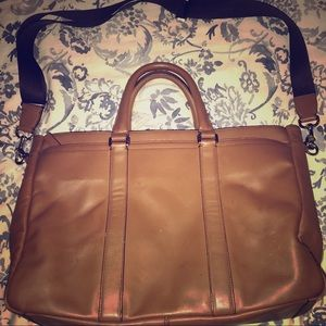 All leather Coach briefcase- good condition!